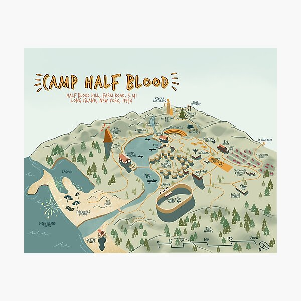 Map of Camp Half Blood Photographic Print