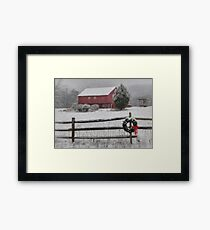 Clarks Valley Christmas Framed Print