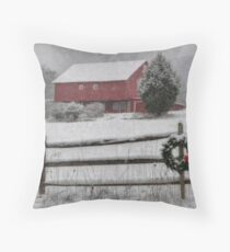 Clarks Valley Christmas Throw Pillow