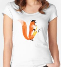 Jazzy Fox Women's Fitted Scoop T-Shirt