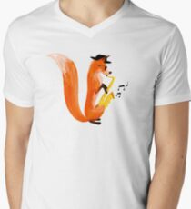 Jazzy Fox Men's V-Neck T-Shirt
