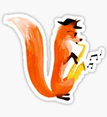 Jazzy Fox Sticker