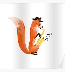 Jazzy Fox Poster