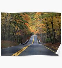 Clarks Valley Road - Autumn Poster