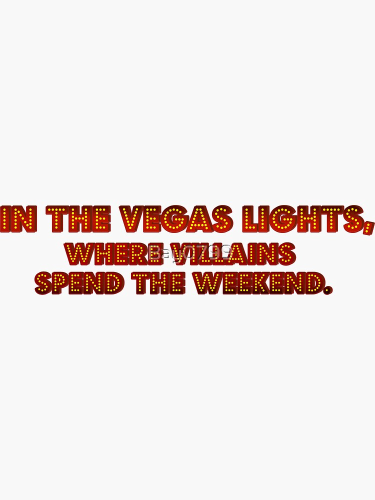 In The Vegas Lights - Panic! Design by Bay0799