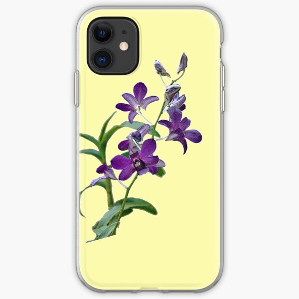 Purple Cymbidium Orchids for iPhone iPhone Soft Case