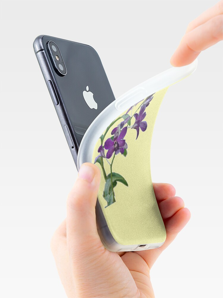 Alternate view of Purple Cymbidium Orchids for iPhone iPhone Case & Cover