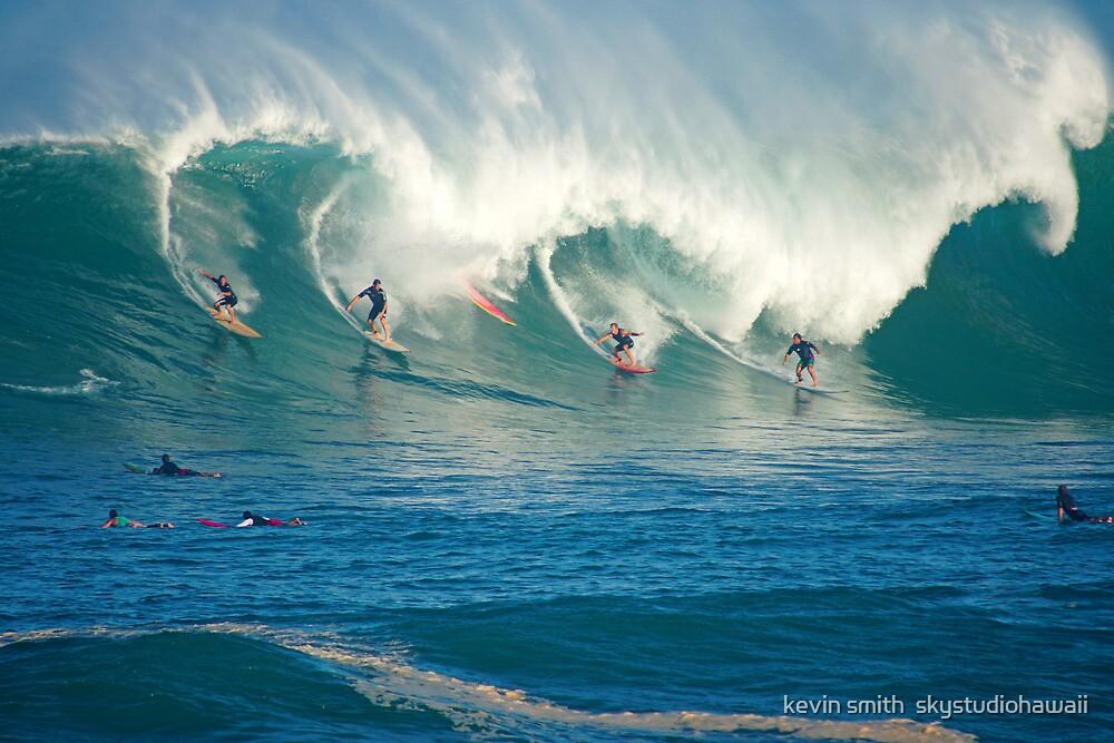 Winter Waves Waimea Bay Hawaii by kevin smith  skystudiohawaii