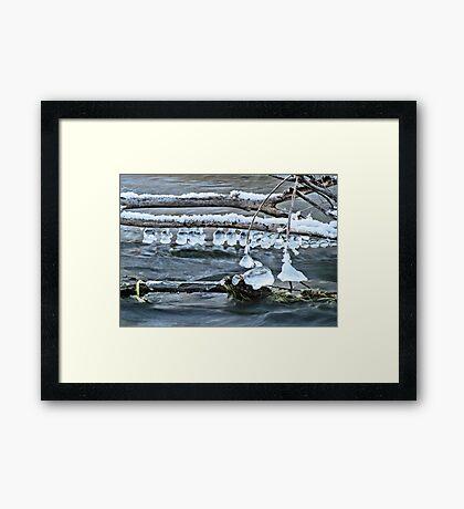 Ice Bells over Rock Creek, Twin Falls, Idaho, USA Framed Print