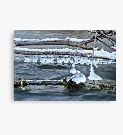 Ice Bells over Rock Creek, Twin Falls, Idaho, USA Canvas Print