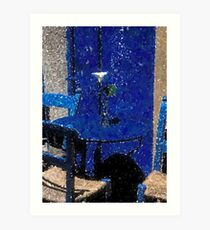 New Orleans French Quarter Table & Chairs Louisiana Artwork Art Print