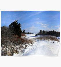 Rural Farm Life Snow Scene Poster Print And Card Poster