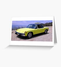 Porsche 914 Car Automobile Poster Print And Card Greeting Card
