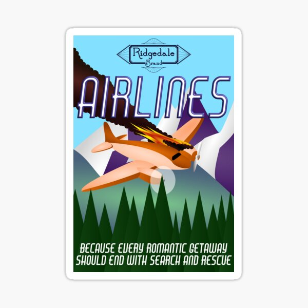 Ridgedale Brand Airlines Sticker