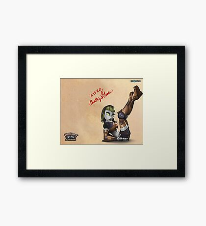Courtney Gears Signed Poster Framed Print
