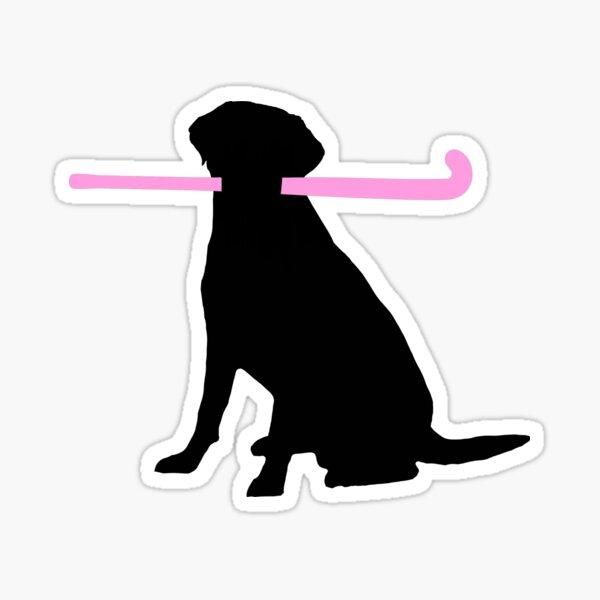 Field Hockey Dog Sticker