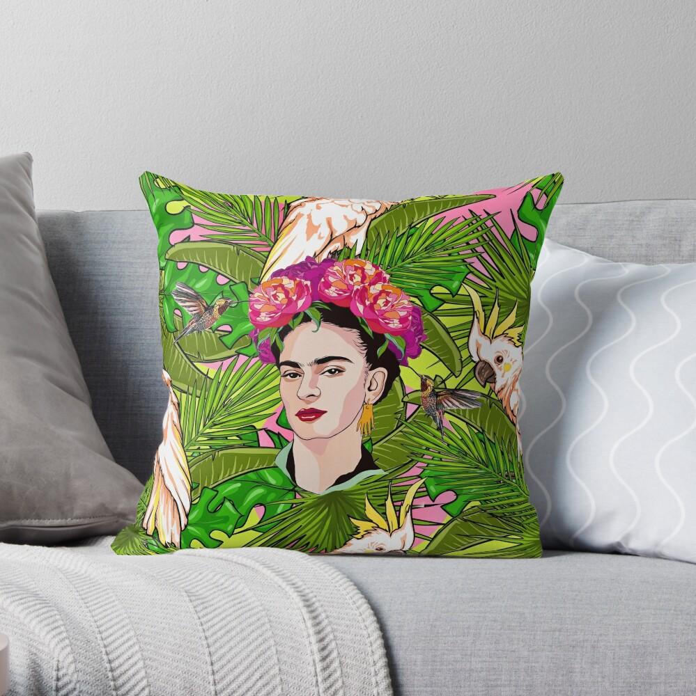 Frida in Flight, II Throw Pillow