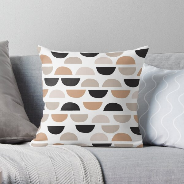Shapes Pattern Minimal Abstract Throw Pillow