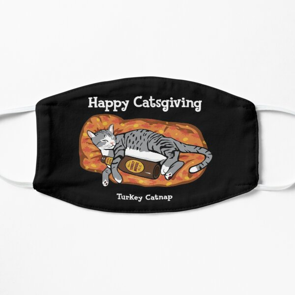 Happy Thanksgiving Catsgiving Cat Lover Mask