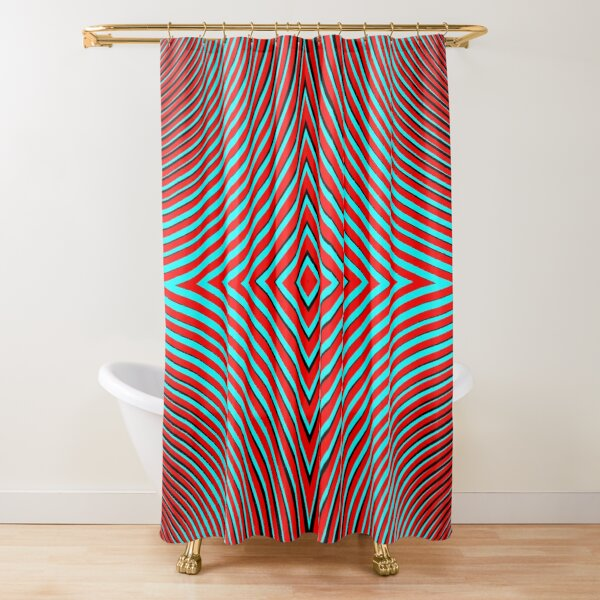Optical illusion Concentric Circles Geometric Art - концентрические круги Shower Curtain