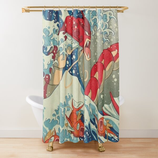 dragon waves  Shower Curtain