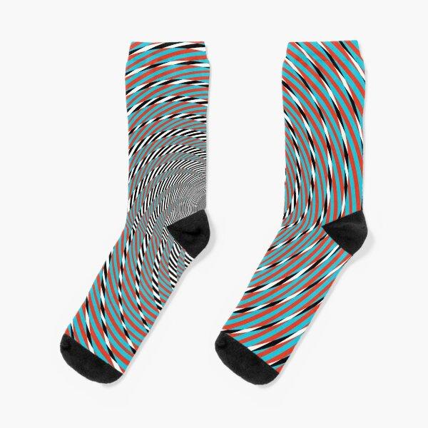 Hypnotic swirl, Optical illusion, Concentric Circles, Geometric Art - концентрические круги Socks