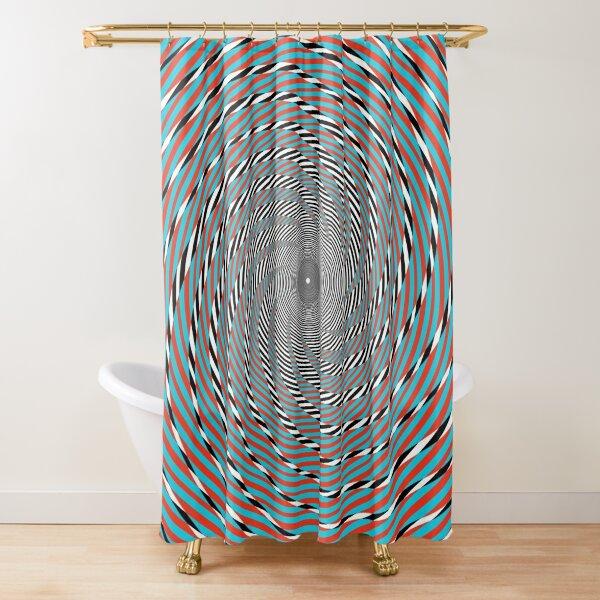 Hypnotic swirl, Optical illusion, Concentric Circles, Geometric Art - концентрические круги Shower Curtain