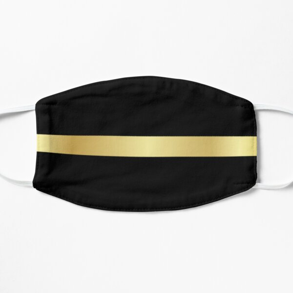 Dispatcher Gifts - Thin Gold Line Gift Ideas for 911 Emergency Dispatchers the Thin Yellow Line - The Calm Voice in the Dark Night Flat Mask