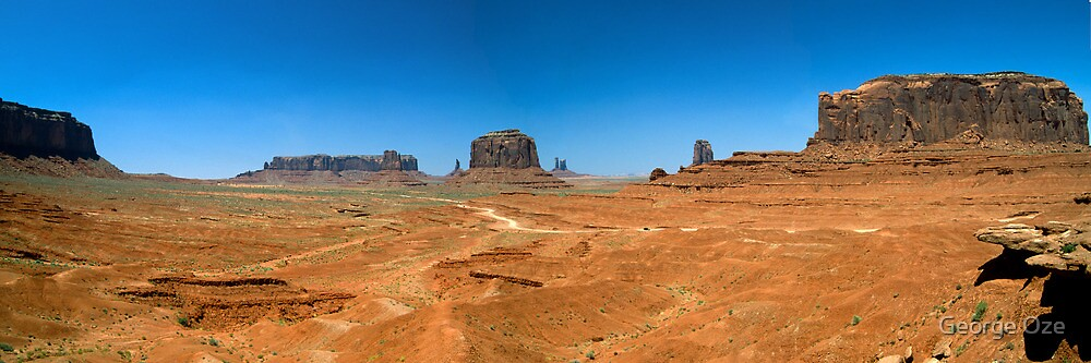 Monument Valley Panorama by George Oze