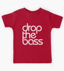 Drop The Bass (white) Kids Tee