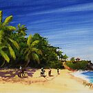 """""""Domes Beach by Horseback"""" Rincon, Puerto Rico by Matthew Campbell"""
