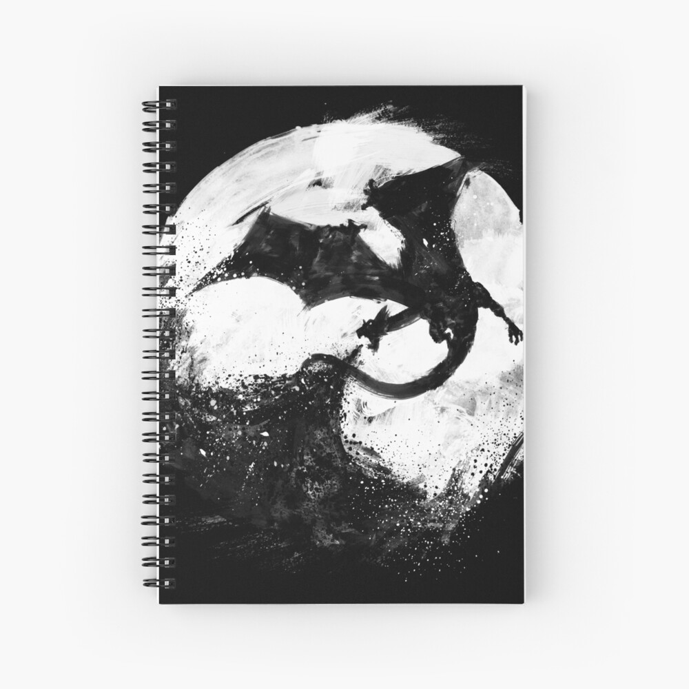 Midnight Desolation Spiral Notebook