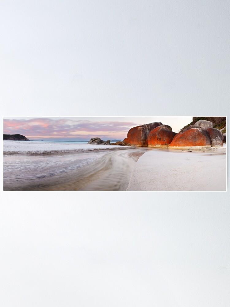 Alternate view of Squeaky Beach, Wilsons Promontory, Victoria, Australia Poster