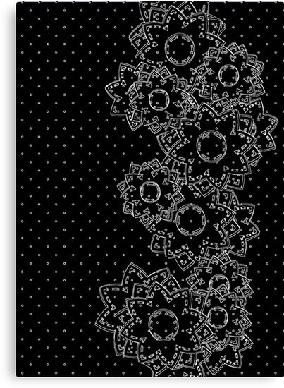 Polka Dot and Flowers Decoration by MEDUSA GraphicART