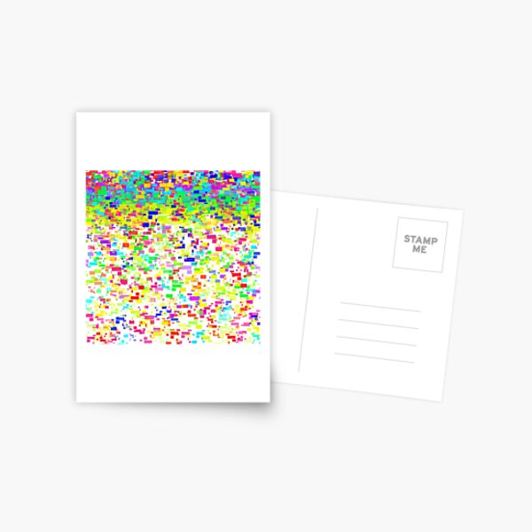 farbenfrohes Sommer Design mit Rechtecken und Quadraten Postkarte