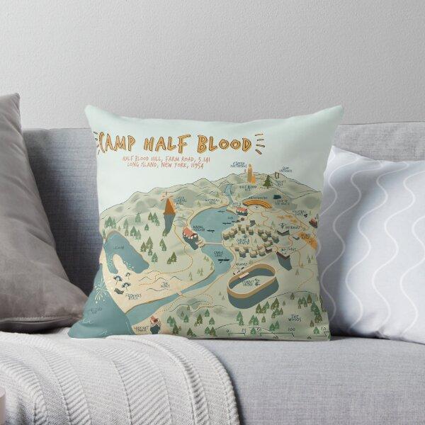 Map of Camp Half Blood Throw Pillow
