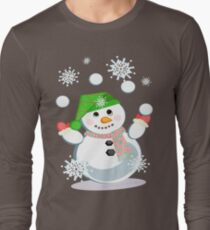 Juggling Snowman T-Shirt