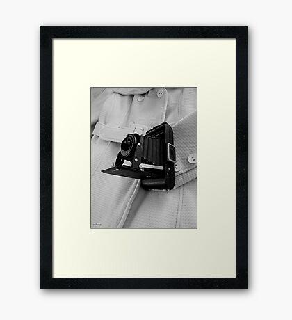 Retro Focus Framed Print