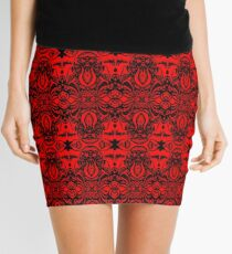 Tribal Chaos Red Mini Skirt