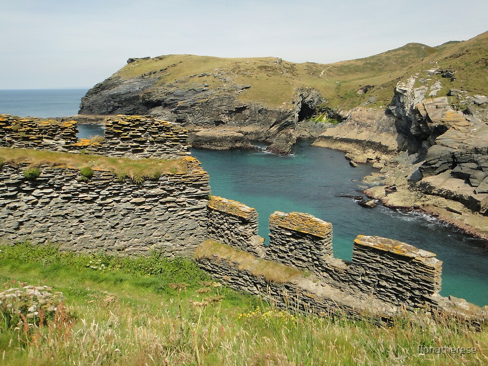 Tintagel Castle, Cornwall, England by fionatherese