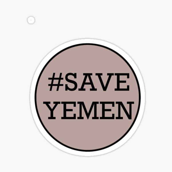 Save Yemen Sticker Sticker
