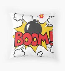 COMIC BOOK: BOOM BOMB! Throw Pillow