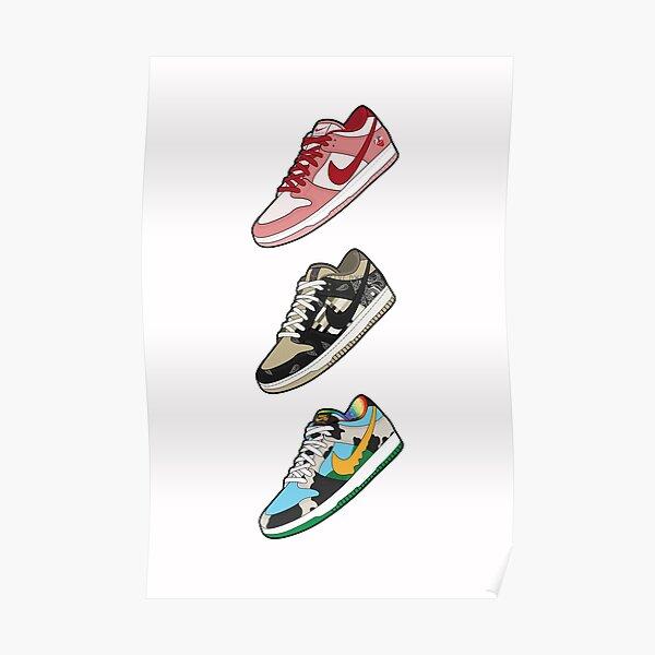 Sneakerhead Art | SB Dunks | Zapatillas de deporte | Arte Hypebeast | Regalo amante de zapatos Póster