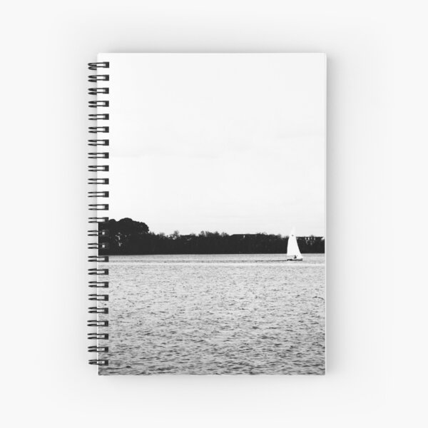 Sailing in The Park Spiral Notebook
