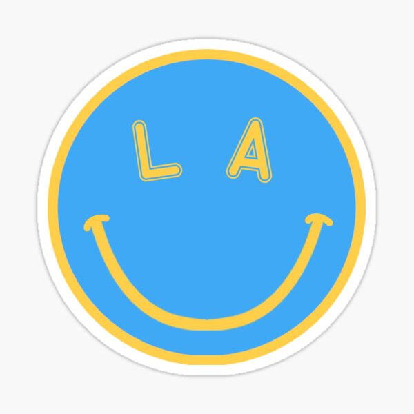 UCLA smiley face Sticker