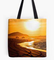 Beach highway sunset (Moreton Island, Australia) Tote Bag