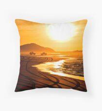 Beach highway sunset (Moreton Island, Australia) Throw Pillow