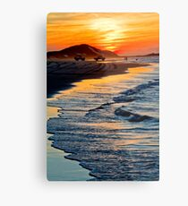 Yellow Patch sunset (Moreton Island, Australia) Metal Print
