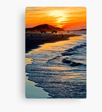 Yellow Patch sunset (Moreton Island, Australia) Canvas Print