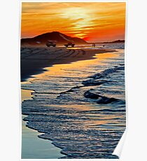 Yellow Patch sunset (Moreton Island, Australia) Poster